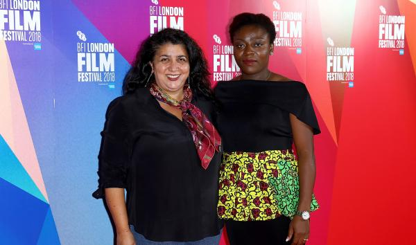 "Sudabeh Mortezai and Joy Alphonsus attend the UK Premiere ""Joy"""