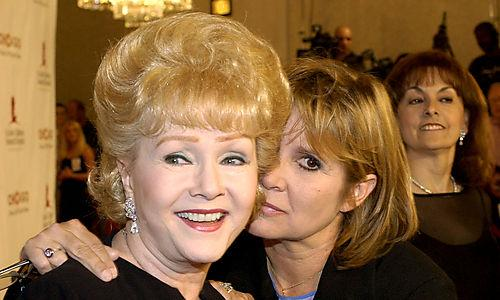 Debbie Reynolds and Carrie Fisher