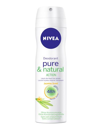 Nivea Deo pure & natural Action Jasmin